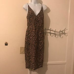 NWT top shop animal print sheaf dress